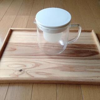 【無印良品】ティーポットと木製プレート
