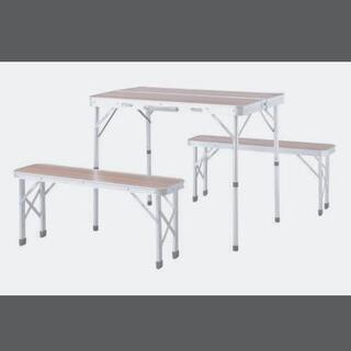BBQアウトドア折り畳みテーブルベンチセット