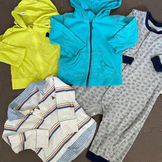 【引渡し中】ベビー服80 4点 パーカー2+シャツ1+ロンパース