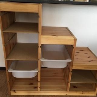 【ネット決済・配送可】IKEA トロファスト パイン材