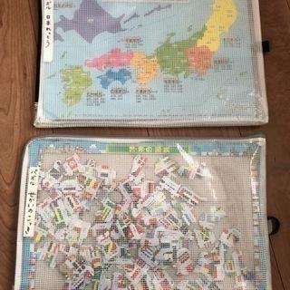 パズル2点 世界の国旗 日本列島