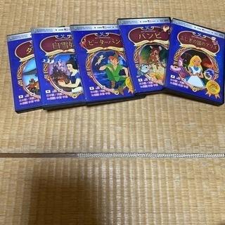 ダンボ、白雪姫、ピーターパン、バンビ、ふしぎの国のアリス