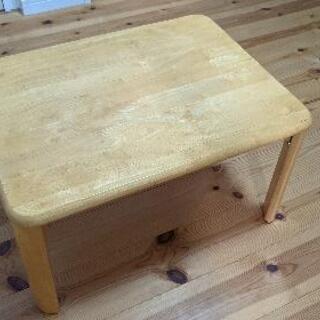 折り畳み脚 集成材テーブル