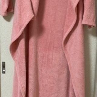 袖付き毛布 ピンク