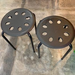 黒まる椅子 引き取り歓迎 堺市南区 二つセット