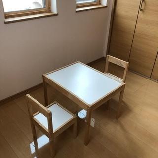 IKEA☆LÄTT レット 子ども用テーブル チェア2脚付…