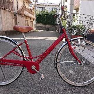 自転車本体  赤色  26インチ  ママチャリ