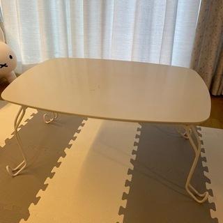 折りたたみテーブル 白