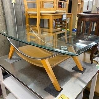 シンプルガラス机!