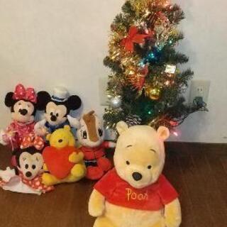 クリスマスツリー&ディズニーぬいぐるみセット
