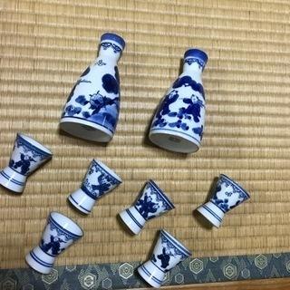 【ワンコインでお譲りします!】鍋島焼きお燗徳利・お猪口セット