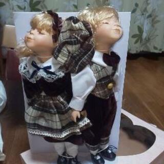 🉐レトロな可愛い人形二体!長さ40cm