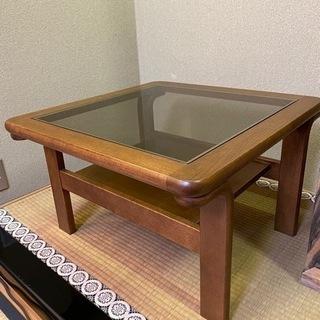 天童木工 ガラステーブル