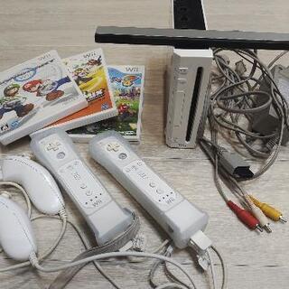 Wiiセット+マリオカート+マリオスポーツミックス+Wii…