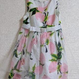 女児 花柄ドレス