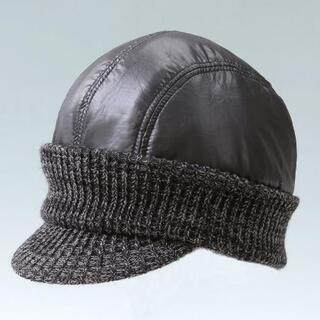 男女兼用 暖かニット帽子《ブラック》【未使用新品】