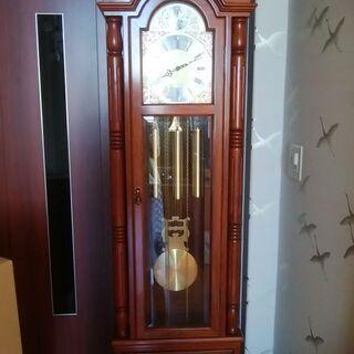 かりん(花櫚・花梨)柱時計 高さ185センチ 振り子時計 現在動...
