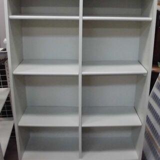 JM13213)本棚 ホワイト W85.5cm X D30.0c...