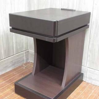 ss2880 サイドテーブル ダークブラウン コンセント2…