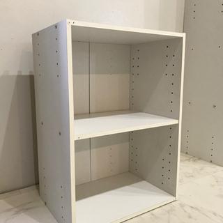 2段ラック ◆ ホワイト シンプル 収納棚