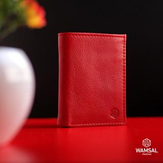 牛革三つ折り財布カードとIDカード/Suica/Pasmo…