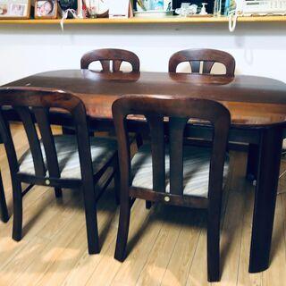 木製ダイニングテーブルセット 椅子4脚