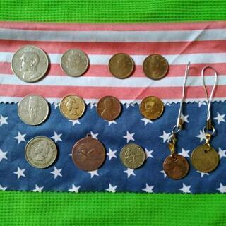 海外コイン9枚・記念コイン2枚 ストラップ2個