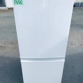 1836番 シャープ✨ノンフロン冷凍冷蔵庫✨SJ-D14B-W‼️