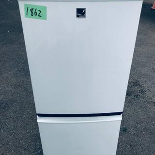 1862番 シャープ✨ノンフロン冷凍冷蔵庫✨SJ-14E8-KB‼️