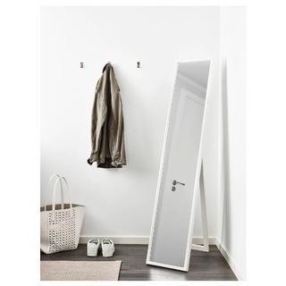 【11/23まで〆】IKEA ホワイト 全身鏡 ミラー