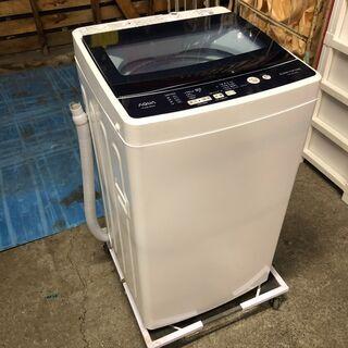 ☆2019年式 AQUA 全自動電気洗濯機 5.0Kg ホ…