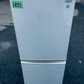 1872番 シャープ✨ノンフロン冷凍冷蔵庫✨SJ-KS14-FG‼️