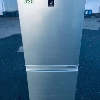 ④1455番 シャープ✨ノンフロン冷凍冷蔵庫✨SJ-PD14X-N‼️