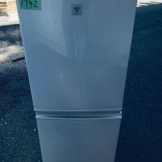 ①1742番シャープ✨ノンフロン冷凍冷蔵庫✨SJ-PD14A-C‼️