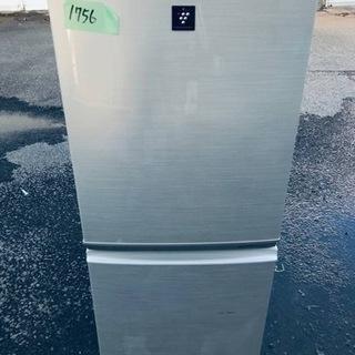 ①1756番シャープ✨ノンフロン冷凍冷蔵庫✨SJ-PD14T-N‼️