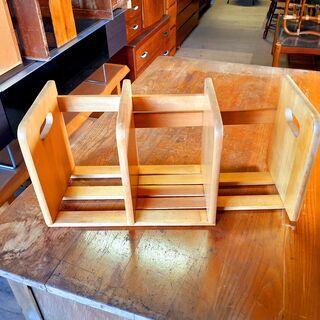 卓上 ブックスタンド スライド式 本立て 木製 /TJ-0013-南3