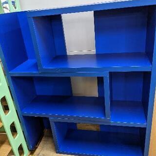 ★スライドシェルフ オープンラック 青色