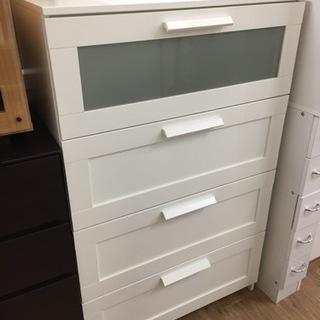 IKEA(イケア)の4段チェスト(ホワイト)です。【トレファク東...
