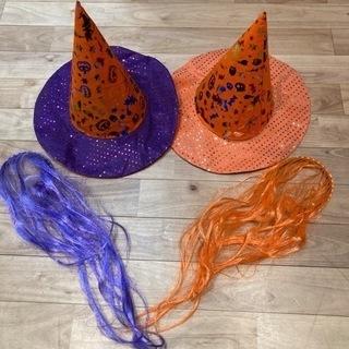 ハロウィン尖り帽子とカチューシャ