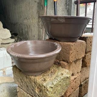 焼き物の植木鉢4個