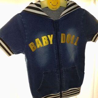 BABY DOLLデニムパーカー 120