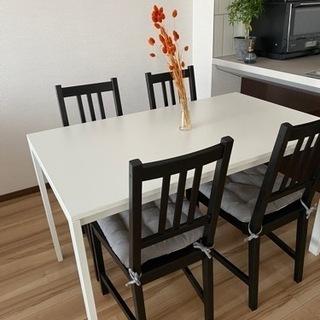 IKEAダイニングテーブル × チェア4脚セット
