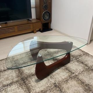 イサムノグチ風 ガラスローテーブル