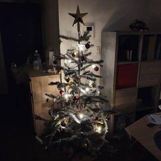 IKEAのクリスマスツリー(飾り・ライト付き)170CM