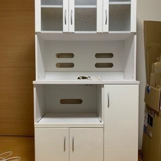 レンジボード 食器棚 ホワイト