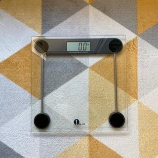 (現金)1byone デジタル体重計 ボディースケール 透…