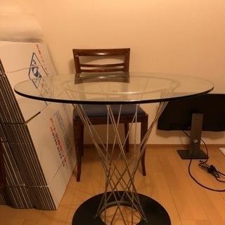 ガラステーブル 80cm