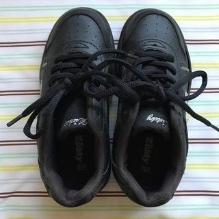 19cm 黒 紐靴