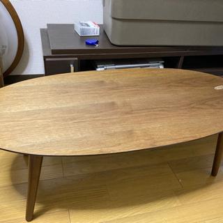 emo エモ 天然木 折り畳みオーバルローテーブル