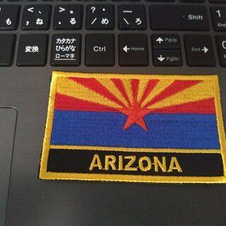 個人輸入 Route 66 アリゾナ州の旗 刺繍 アイロン…